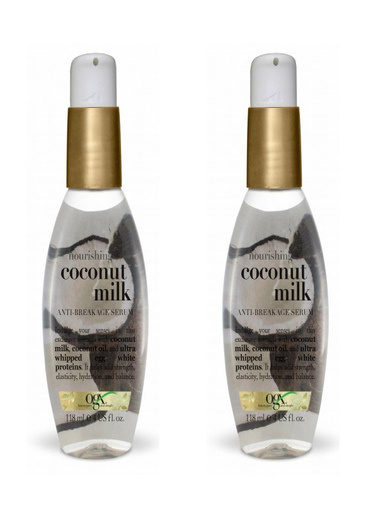 Organix Ogx Besleyici ve Kırılma Karşıtı Coconut Milk Serum 118 ml x 2 A Renksiz